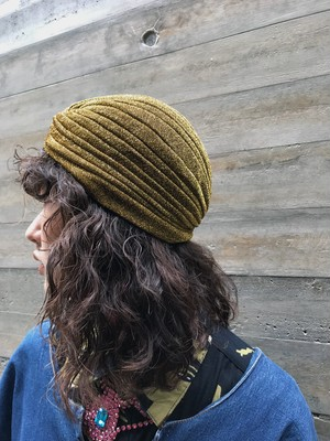 Turban lame black / silver hat  ( ラメ ブラック ゴールド シルバー ターバンハット )