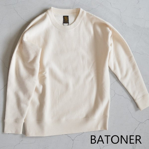 BATONER /バトナー・loopweel knityyarn crew neck sweat