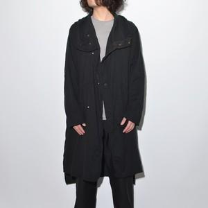All Matching Hoodie Coat - Double Gauze 〈Black〉