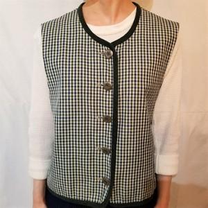 Check pattern tyrol vest [G-519]