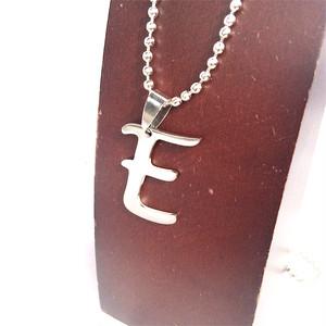 E アルファベット ボールチェーン チョーカー ネックレス 銀 シルバー SILVER 1920