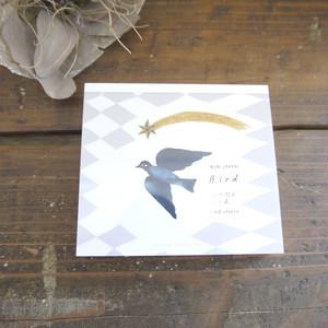 【表現社 cozyca products】西淑 美濃透かし和紙入 ブロックメモ(Bird)
