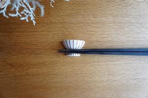 砥部焼/お茶碗型箸置き/十草/すこし屋