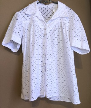 French 50's Handmade Lace Blouse