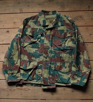 (Fn2316) 50's~ ベルギー軍 ミリタリージャケット ジグソーカモ
