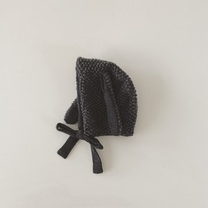 pocopoco rabbit bonnet : charcoal gray (sizeL,XL)