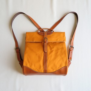 Paraffin canvas back pack「Escargot」regular  ORANGE