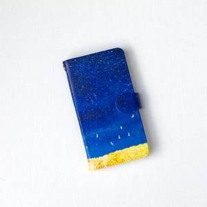 手帳型Androidケース「藍色の、空」