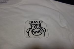 CRASTY TEE T-1 (WHITE L size)