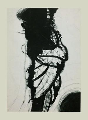"""11 単品カード  """"モード_黒いコートの女""""(10枚セット)"""