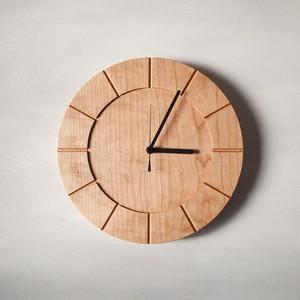 木の時計01(Φ300) No4 | チェリー【針、選択可】