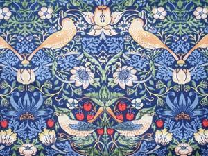 Moda William Morris イチゴ泥棒ブルー系