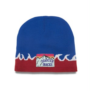 QUARTERSNACKS / FLAME BEANIE -BLUE-