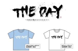 """""""THE DAY"""" Tシャツ(フロントスカイ・Lサイズ)"""