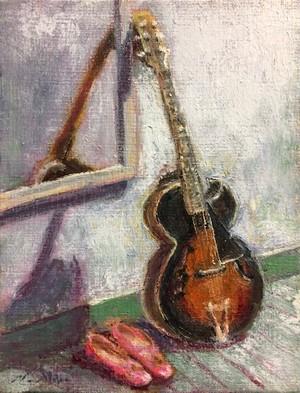 『控室』油絵