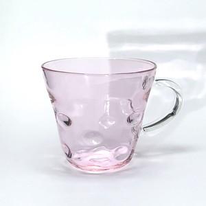 glass 水玉マグカップ pink