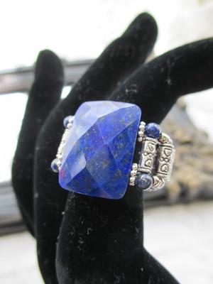 天然石のリング (ラピスラズリー)