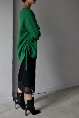 ROOM211 / V Neck Knit PO (green)