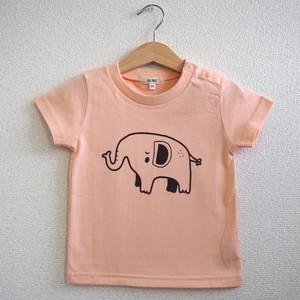 ぞうキッズTシャツ 120cm アプリコット