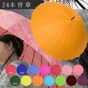 雨にぬれると柄がふわっと浮き出る「24本傘」花柄