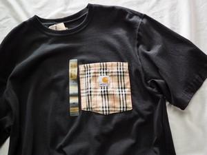Remake carhartt Pocket T-shirt Black