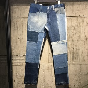 Children of the discordance / NY VINTAGE PATCH DENIM PANTS