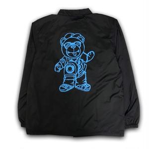 BB BEAR COACH JACKET /BLACK x BLUE