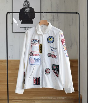 VINTAGE 70s RACING JACKET -MADE in USA-