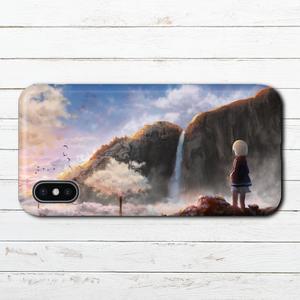 iPhoneケース スマホケース iPhoneXS/X おしゃれ ファンタジー Xperia iPhone5/6/6s/7/8 かわいい ノスタルジー GALAXY ARROWS AQUOS タイトル:雲の木 作:星宮あき