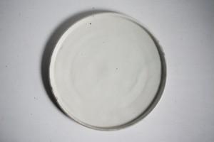 八木橋昇 粉引 玉縁7寸皿