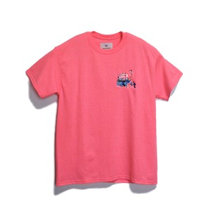 KUNCHI  TEE - safety pink <HOLLAND>