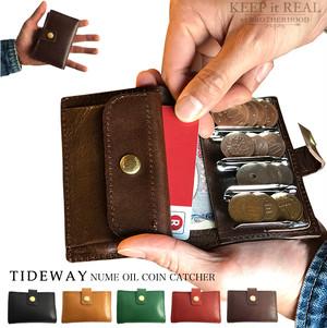 TIDEWAY タイドウェイ 本革 財布 ヌメ オイル コインキャッチャー メンズ レディース ユニセックス 日本製