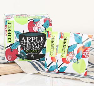 MIE クリッパー オーガニックティー アップル&エルダーフラワー 25g(糸タグ付個包装ティーバッグ10P)
