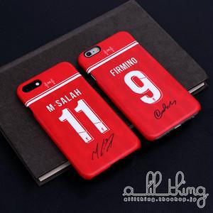 「EPL」リバプールFC 2018-19シーズン ホームユニフォーム モハメドサラー サディオマネ サイン入り iPhoneX iPhone8 ケース