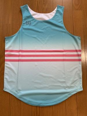 《限定販売 完全受注生産》KYUSティファニーブルーリバーシブルタンクトップシャツ
