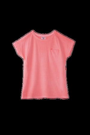 FRENCH BIG T-SHIRTS / フレンチ ビック T-シャツ ネオンピンク / MS-3105