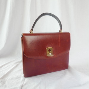French Brown Leather Hand Bag
