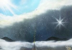 『明るい世界へ』今より少し飛べればすぐ光の場所…。