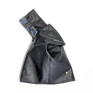 KAWA - スクエア巾着 - 紫藤尚世柄 Blue