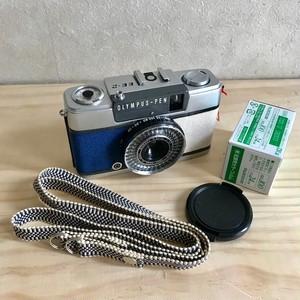リメクカメラ OLYMPUS PEN-EE2(ネイビーブルー・オフホワイト)