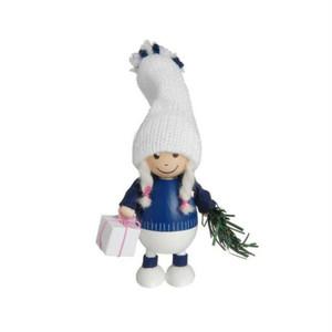 プレゼントを持った青い胴長の女の子/NORDIKA nisse/デンマーク