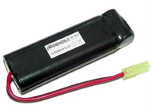 Ni-Mh(ニッケル水素) 8.4V ミニSバッテリー 1250mA