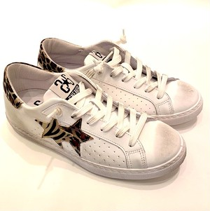 2SD2622 Sneaker Low Bianco Leopard ×Zebra