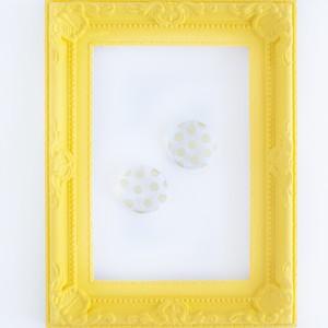 大きな透明◯の GD水玉 ピアスorイヤリング