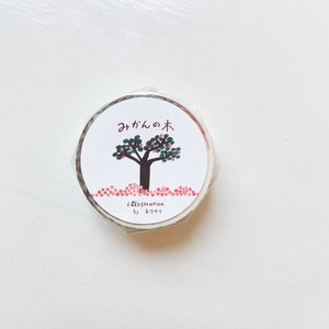 *新入荷*【ネクタイ】手紙社コラボマスキングテープ <みかんの木>