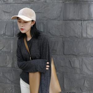 【小物】新作春秋合わせやすい無地オールシーズンスエード生地スカラップ帽子