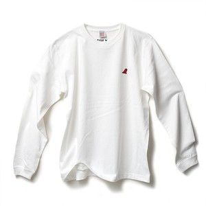 RED FIN HEAVY WEIGHT L/S T-SHIRT - WHITE