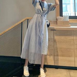 【dress】ロングファッションアイテム切り替えカジュアルワンピース21273254