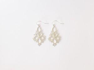 YulariceTatting lace earring Flowerdrop SV925