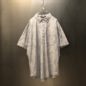 pullover button-down S/S shirt